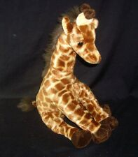 "14"" TY 2009 BROWN GIRAFFE HIGHTOPS SAFARI BABIES SOFT STUFFED ANIMAL PLUSH TOY"