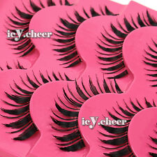 5 Pairs Long Thick Handmade Makeup Fake False Eyelashes Eye Lashes Extension Set