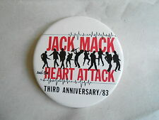 Vintage 1983 Jack Mack and the Heart Attack Band Third Anniversary Pinback
