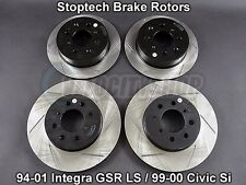 Stoptech Sport Slotted Brake Rotors 94-01 Integra GSR LS