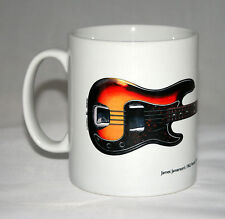 Guitar Mug. James Jamerson's 1962 Fender Precision Bass illustration.