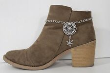 Women Silver Chain Western Boot Bracelet Shoe Anklet Disc Snow Star Bling Charms