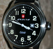 Russian ORBITA Automatic Model 8554 Swiss Made 30M Date ETA2846 Leather Strap