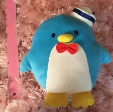 "SANRIO Blue Penguin Tuxedosam Tuxedo Sam 9"" Plush Stuffed Animal Toy"