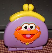 Sesame Street Elmo Zoe Plastic Toy Purse REPLACEMENT Coin Wallet RATTLE SOUND
