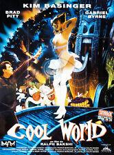 Affiche 60x80cm COOL WORLD (1992) Kim Basinger, Gabriel Byrne, Sinatra TBE