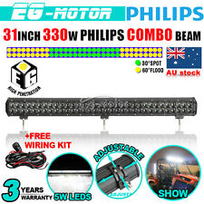 32INCH 330W PHILIPS LED Work Light Bar Flood Spot Combo Driving Lamp 120/300W 30