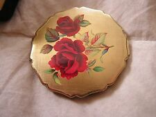 Vintage Stratton England Compact with Flowers