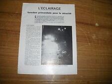 REVUE TECHNIQUE L'ECLAIRAGE AUTOMOBILE EN 1982