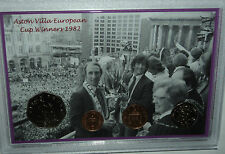 Aston Villa AVFC Vintage European Cup Final Winners Retro Coin Fan Gift Set 1982
