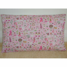 """20""""x12"""" Oblong Bolster Cushion Cover Liberty Alice In Wonderland Pink Nursery"""