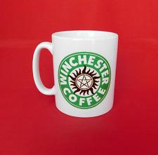 Sobrenatural Winchester Brothers Starbucks inspirado taza de café de 10oz de Sam Dean