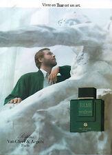 Publicité Advertising 1989 Parfum  TSAR de VAN CLEEF & ARPELS  eau de toilette