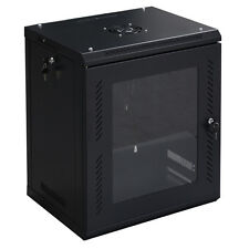 Goplus 12U Wall Mount Network Server Data Cabinet Enclosure Rack Glass Door
