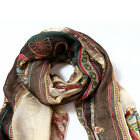 Retro Women Lady Cotton Soft Cool Long Carriage Scarf Large Wrap Shawl Scarves