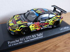 Porsche 911 996 GT3 RS Sally GP de Miami VOITURES Minichamps Modèle 1:43