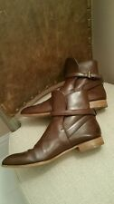 BRAND NEW PRADA Brown Riding/Cowboy Ankle Boots Sz 40