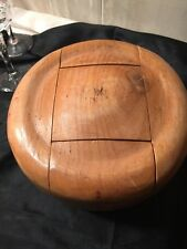 Wooden Hat Form 5 Puzzle Pieces Millinery Hat Block Wood Mold And Crown Antique