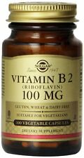 Solgar Vitamin B2 Riboflavin Vegetable Capsules, 100 mg, 100 Count