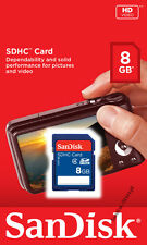 SanDisk 8GB SD Class 4 8GB SDHC C4 flash memory Card Camera 8G SD  **Retail