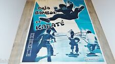 SOJA BAMBOU ET KARATE Long hu tan !  affiche cinema karate kung-fu 1973