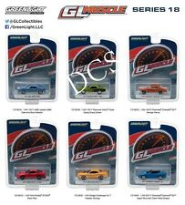 GREENLIGHT MUSCLE DODGE CHARGER / RELEASE 18, SET OF 6 CARS 1/64 DIECAST 13180