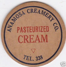 MILK BOTTLE CAP. ANAMOSA CREAMERY CO. ANAMOSA, IA. DAIRY