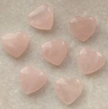 Natural Rose Quartz Crystal Carved Heart Palm Healing Love Fertility Gemstone