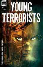 YOUNG TERRORISTS 1 RARE TEMPLESMITH VARIANT A BLACK MASK NM LOW PRINT RUN