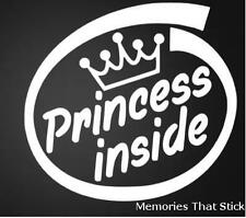 PRINCESS INSIDE Funny Car Window Bumper JDM VW VAG EURO Vinyl Decal Sticker