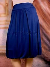 $975 ROBERTO CAVALLI Sexy Navy Blue Stretchy Jersey Ruched Pleated Skirt 38 4