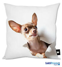 CUTE CHIHUAHUA DOG DESIGN CUSHION GREAT GIFT IDEA HOME ACCESSORY 18""