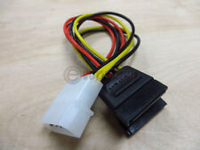 4 Pin Male Computer Power Supply to Dual Serial ATA SATA Power adapter Cable 6""