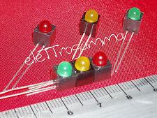 led 5 mm semaforo rosso giallo verde + portaled