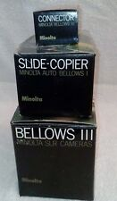 MINOLTA BELLOWS III +SLIDE COPIER + CONNECTOR  (BOXED)