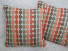 "QUINTUS BY ROMO 1 PAIR OF 18"" CUSHION COVERS - DOUBLE SIDED & PIPED!"