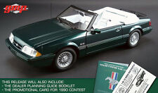 1990 FORD MUSTANG LX 5.0 7-UP EDITION CONVERTIBLE GREEN 1/18 BY GMP 18815