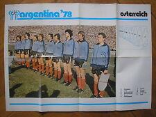 ARGENTINA 78 ALBUM COGED POSTER OSTERREICH AUSTRIA WORLD CUP 1978 FOOTBALL