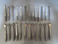 Lot de 25 anciens forets à bois de vilebrequin outils aniens old tools