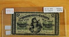 1870  Shinplaster  ( 25 Cent  Cdn  Note )