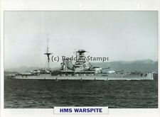 1913 HMS WARSPITE Battleship Ship / GB Warship Photograph Maxi History Card