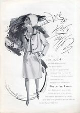 1965 Lord & Taylor Fashion Ben Zuckerman's Designer Wool Suit PRINT AD