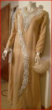 ladies gold & white long evening dress, Abaya,Jilbab, Hijab, Jubba size 56, gown