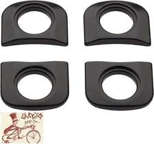 RACE FACE CRANK ARM OUTER TAB SPACERS BLACK BICYCLE CRANK PARK--SET OF 4
