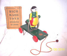 VINTAGE RICH TOYS PARTIALBOX 1921 EXTREMELY RARE LOGO PULL TOY NEVER PLAYED WITH