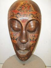 "14 "" WOODEN CARVED WALL ART MASK"