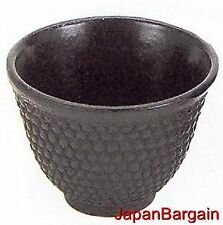 2x Japanese Cast Iron Teacup Hobnail Black TB32-BK