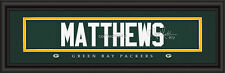 Green Bay Packers Clay Matthews Signature Framed Print - NFL Poster Man Cave