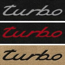 Lloyd Mats Porsche Turbo Front Turbo Logo Floor Mats (1975 & Up)
