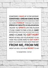 The Gaslight Anthem - Get Hurt - Song Lyric Art Poster - A4 Size